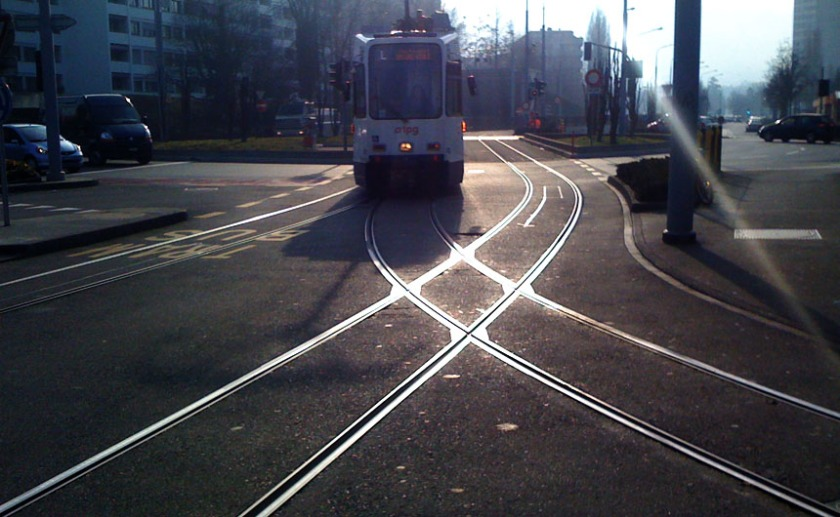 rail et aiguillage de tramway